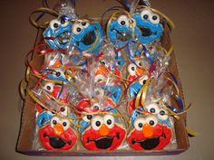 Elmo & Cookie Monster Birthday Theme Sugar Cookies individually wrapped!