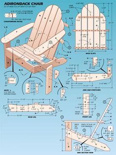 how to build adirondack chair