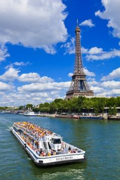 Bateaux Mouches, sightseeing on the Seine, first night on the tour we'll be on a bateaux!
