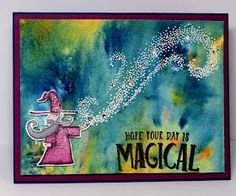 It was a lot of fun to use my Stampin Blends on this adorable wizard. And the Brusho! Wow is that fun to experiment with. And you never k...