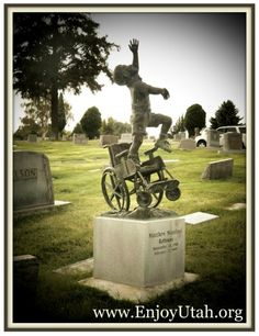 Salt Lake City Cemetery: Beautiful Wheelchair Headstone