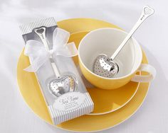 """""""Tea Time"""" Heart Tea Infuser in Elegant White Gift Box at Elegant Gift Gallery. We're your number one source for tea party favors and bridal shower favors. Tea Wedding Favors, Tea Party Favors, Snacks Für Party, Wedding Souvenir, Wedding Gifts, Wedding Ideas, Bridal Shower Tea, Tea Party Bridal Shower, Bridal Shower Favors"""