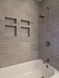 Love This Tub Tile Accents And Doors This Would Work