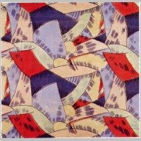 'Amenophis' textile design by Roger Fry, produced by Omega Workshops in 1913..jpg