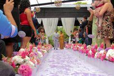 Casamento amanda e marcos, rosa, lilás e branco