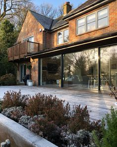 It's a cold frosty start here - aren't they just the best in Winter! Bungalow Extensions, Kitchen Diner Extension, Patio Doors, Exterior, House Design, Cabin, Cold, Mansions, Architecture