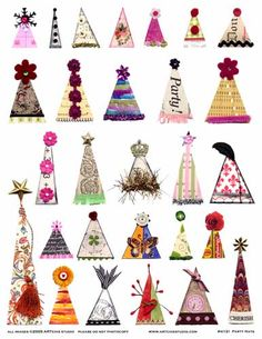 ARTchix Studio Collage Sheet, Party Hats Image Sheet, 8 x sheet. These collage sheet images are vintage and fun. Available in many different styles, the collage sheets offer wonderfulBrowse unique items from ARTchixStudio on Etsy, a global marketplace of Collage Sheet, Collage Art, Paper Dolls, Art Dolls, Paper Art, Paper Crafts, Planners, Free Graphics, Artist Trading Cards