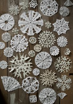 Fine Little Day - paper snowflakes