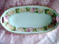 Vintage Prince Regent Bavarian China Germany LDB & Co. Relish Celery Dish 1930s