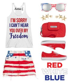 """""""Red, White & Blue: Celebrate the 4th!"""" by lgb321 ❤ liked on Polyvore featuring Marc Jacobs, BP., Vera Bradley, Vans, Kenneth Jay Lane, america, fourthofjuly, polyvoreeditorial and fourthofjulyfashion"""