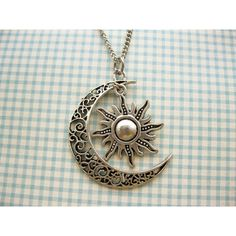 Moon And Sun Necklace Rescent Moon Necklace Sun Jewelry Pendant... ($4.50) ❤ liked on Polyvore featuring jewelry, necklaces, graduation jewelry, pendant necklace, graduation necklace and graduation gifts jewelry