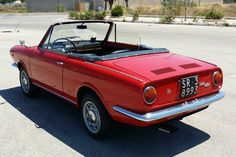 Fiat 850 Spider Old Sports Cars, Classic Sports Cars, Sport Cars, Classic Cars, Fiat 850, Fiat Abarth, Turin, Fiat Spider, Automobile