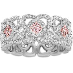 De Beers - Pink Enchanted Lotus Band 1.20 cts diamonds, set in white and rose gold.