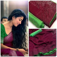 Checkout this latest Sarees Product Name: * Pretty Vichitra Silk Women's Saree* Sizes:  Free Size Easy Returns Available In Case Of Any Issue   Catalog Rating: ★4.2 (3181)  Catalog Name: Saranya Solid Vichitra Silk Sarees with Beads & Stones CatalogID_236852 C74-SC1004 Code: 935-1802300-