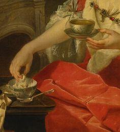 DONAT NONOTTE PORTRAIT OF A WOMAN TAKING TEA