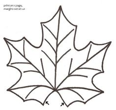 free Leaf printable pattern | Thread: Maple Leaf Mug Rugs - Pictorial Tutorial & Pattern
