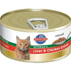 Hill's Science Diet Kitten Healthy Development Liver and Chicken Entree Minced Cat Food