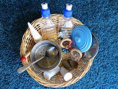 Activities for Babies: Exploring Sound Treasure Basket