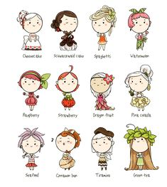 Cartoon Drawing Meago on Deviantart - Cute Food Drawings, Kawaii Drawings, Cartoon Drawings, Easy Drawings, Cartoon Art, Kawaii Doodles, Cute Doodles, Chibi Characters, Cute Characters