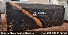Black Fusion on is a unique and elegant granite. Its nebulous style has a dark black background with golden veining and white speckling. Black Fusion granite gives character to any application, whether it be a kitchen countertop, bathroom vanity top, fireplace surround or outdoor living space. It can instantly become the focal point of any space in your house. In addition to being beautiful, this stone is also very durable. Considering the beauty and durability that you will receive from… Granite Tops, Granite Slab, Black Granite, Countertop, Granite Suppliers, Marble Price, Bathroom Vanity Tops, Italian Marble, Fireplace Surrounds