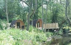 Pods and decking, North Wales