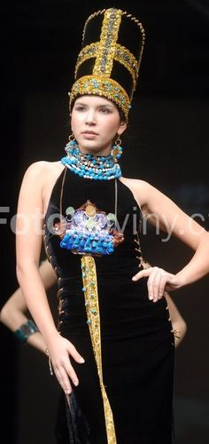 Irma Manjgaladze - model Cleopatra