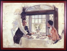 B&O advertisements often featured African-American staff.Their smiles were seen as part of the uniform and often hid the long hours spent on their feet serving thousands of hungry travelers. In addition to waiting tables, waiters were responsible for: cleaning and setting tables before and between meals; placing table clothes, napkins, and place settings, and ensuring the dishes and silver were clean and free of fingerprints. They sometimes had to sleep in the dining car during off hours.