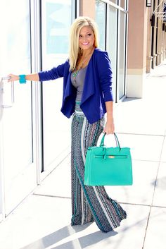Styled by Whit! Blazer & Palazzo Pants available at RollingRackBoutique.com
