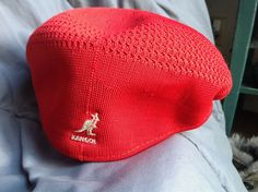 b9ddbf4f88f Kangol Tropic 504 Newsboy Cap XL Ventilated Woven Red With White Kangaroo   fashion  clothing  shoes  accessories  mensaccessories  hats (ebay link)