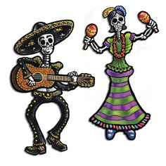 Beistle 2-Pack Jointed Day of The Dead Skeletons, 14-Inch ** Startling review available here  : Decorating Tools