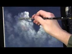 Video Lessons of Drawing & Painting: Moonlit Night Sky Clouds acrylic… Acrylic Painting Techniques, Painting Videos, Painting Tips, Art Techniques, Painting & Drawing, Painting Clouds, Galaxy Painting, Sky And Clouds, Learn To Paint