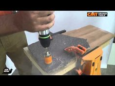 CMT hole saw 552 on granite
