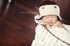 newborn aviator beanie cap