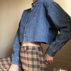 51062e8f122 Vintage 90 s   y2k Ralph Lauren denim button up that has a a - Depop Denim  Button