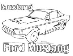 Dodge Charger Coloring Pages 01 | Coloring Pages | Pinterest ...