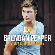 Stop Wag Bly Nog 'n Bietjie by Brendan Peyper Hot Blondies, Fan Page, Positive Thoughts, Cute Guys, Justin Bieber, Celebs, Singer, Album, Afrikaans