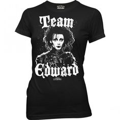 Edward Scissorhands - Team Womens / Juniors T-Shirt In Black, Size: XX-Large, Color: Black Movie T Shirts, Tee Shirts, Goth Accessories, Edward Scissorhands, Geek Girls, Graphic Tees, T Shirts For Women, My Style, Mens Tops