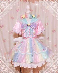 Here is Lolita Outfits for you. Pastel Goth Fashion, Kawaii Fashion, Lolita Fashion, Cute Fashion, Fashion Outfits, Rock Fashion, Outfits Kawaii, Kawaii Clothes, Kawaii Dress