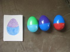 Match eggs to the card