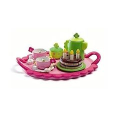 Djeco Wooden Birthday Party Teatime Set - possible gift ideas for Izzy from the new baby