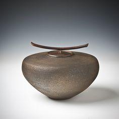 Smoke Fired Series III - Small Jar: Carol Green: Ceramic Vessel   Artful Home
