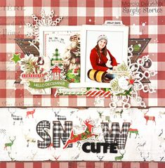 Snow Cute Layout featuring the Simple Vintage Christmas Collection by design team member Marcia Dehn-Nix Christmas Scrapbook Layouts, Scrapbook Page Layouts, Scrapbook Cards, Christmas Layout, Photo Layouts, Vintage Scrapbook, Scrapbook Sketches, Christmas Events, Christmas Party Games