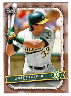 Jose Canseco # 58 - 2005 Upper Deck Classics Baseball