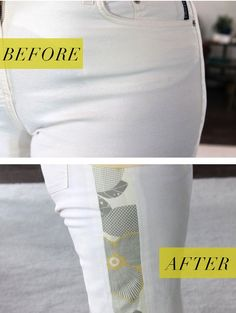 Don't get rid of your favorite pants, just because they are too small. Make them more comfortable by letting out the side seams or add fun side gussets. Source by Chrifan to make clothes bigger Sewing Pants, Sewing Clothes, Diy Clothes, Altering Pants, Altering Clothes, Techniques Couture, Sewing Techniques, Sewing Projects For Beginners, Sewing Tutorials