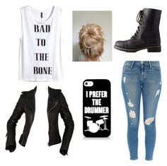 """""""Bad to the Bone"""" by alwaysapotter-head ❤ liked on Polyvore featuring H&M, Frame Denim, Balenciaga, Charlotte Russe and alwaysapotterhead"""
