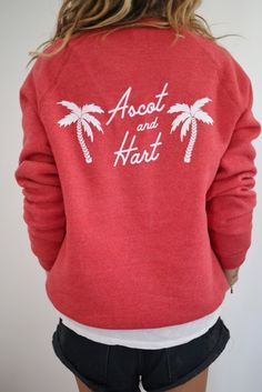 Red Palm Tree pullover   ascot + hart
