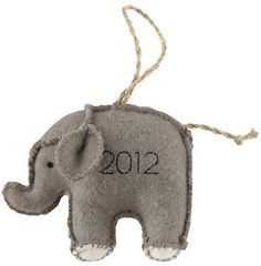Baby's First Elephant Ornament 2012 $4.95