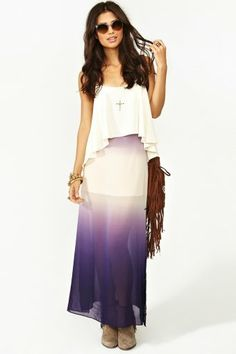 """Check out Allie Hilt's """"Ombre Maxi Skirt """" grab @Lockerz    love it all <3!"""
