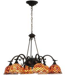 Meyda Tiffany Tiffany Fishscale 6 Light Chandelier