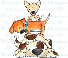 Doggie Day Care - Dogs - Animals - Rubber Stamps - Shop